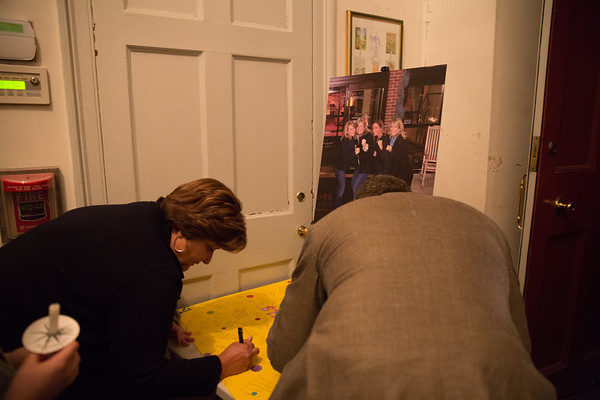 "Signing the ""Stay Strong"" poster for Roseann - 2013-04-25 at 20-15-34"