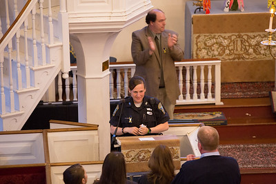 Shana Cottone, BPD Officer who aided Roseann during the Marathon Bombings receives a standing ovation - 2013-04-25 at 19-45-29