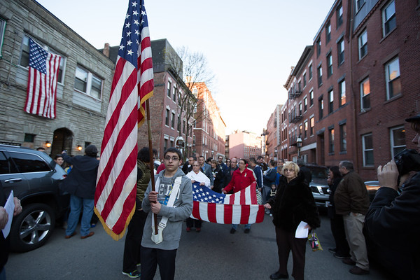 Michael Bonetti leads the North End Vigil Color Guard - 2013-04-21 at 18-15-08