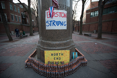 North End Strong Sign with Candles - 2013-04-21 at 19-10-19