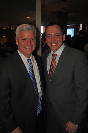 Mayoral Candidate Daniel Conley (left) and Rep. Aaron Michlewitz