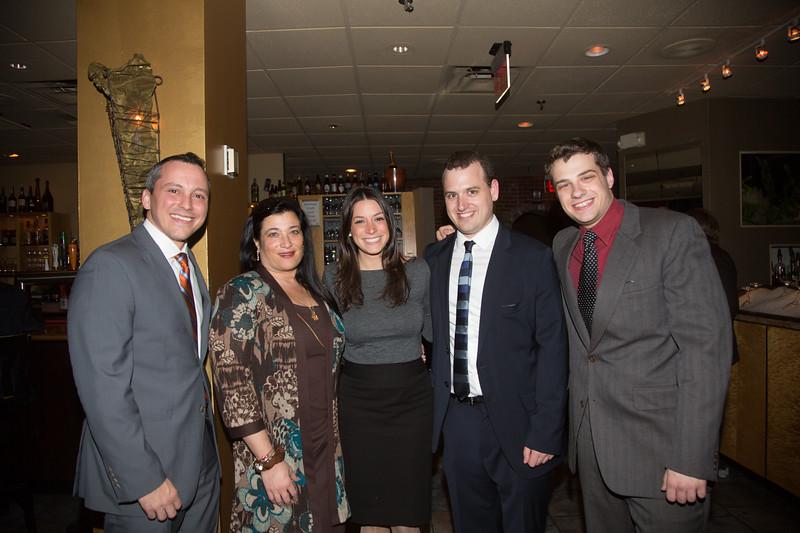 (L-R) Rep. Aaron Michlewitz, Karen D'Amico, Maria Puopolo, Blake Webber and Luke Wilder