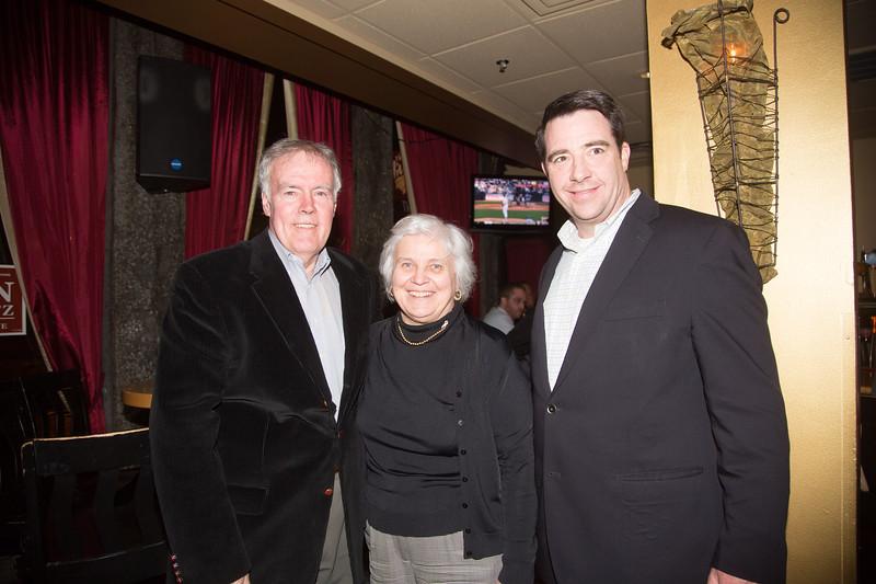 (L-R) Jim Gannon, Francine Gannon and Dan Ryan