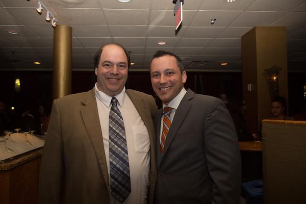 John Romano (left) and Rep. Aaron Michlewitz