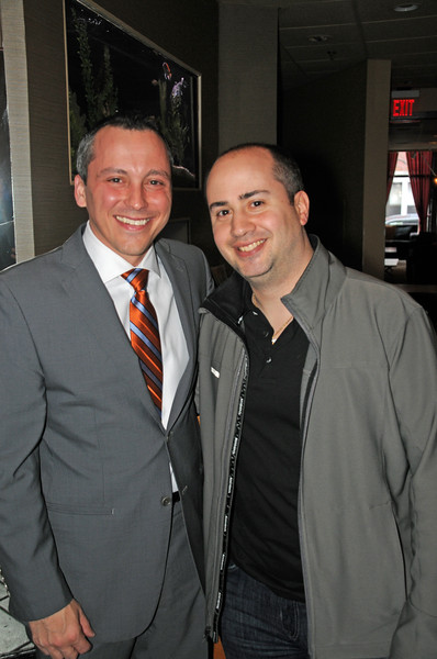 Rep. Aaron Michlewitz (left) and Gennaro Moretti