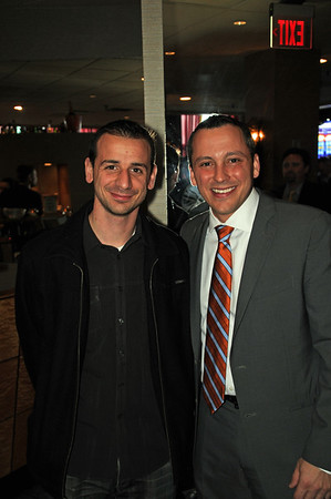 Louis Strazzullo (left) and Rep. Aaron Michlewitz