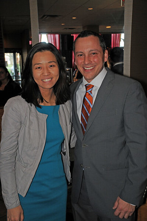 City Councilor At-Large Candidate Michelle Wu (left) and Rep. Aaron Michlewitz