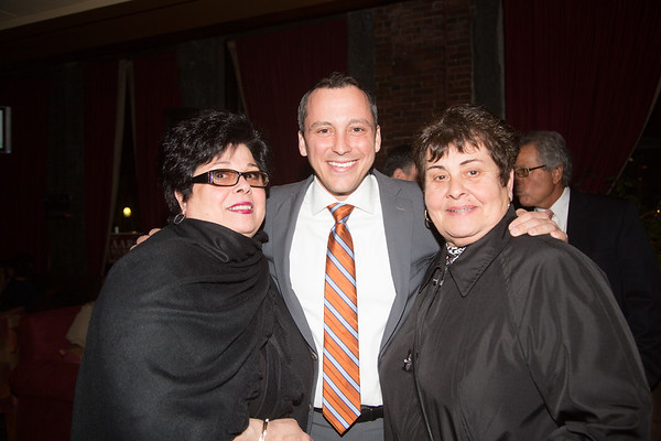 """Marie """"ReRe"""" Bamonte (left), Rep. Aaron Michlewitz and Michele Tirella"""