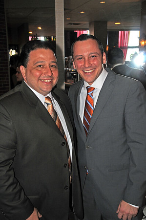 City Councilor Rob Consalvo (left) and Rep. Aaron Michlewitz