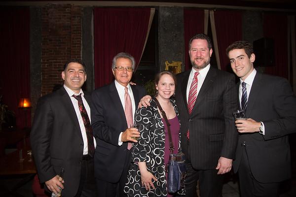 (L-R) Dan Toscano, Bill Ferrullo, Becca Griffin, Jason Aluia and Conor Finley