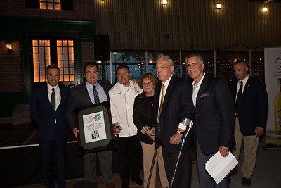 From the left, Jim Luisi (TONE co-chair and CEO of NEW Health), Philip Frattaroli (TONE Exec Dir and Ducali owner), Donato Frattaroli (TONE co-chair and Lucia owner), Angela Menino, Boston Mayor Thomas M - 2013-05-10 at 20-00-26