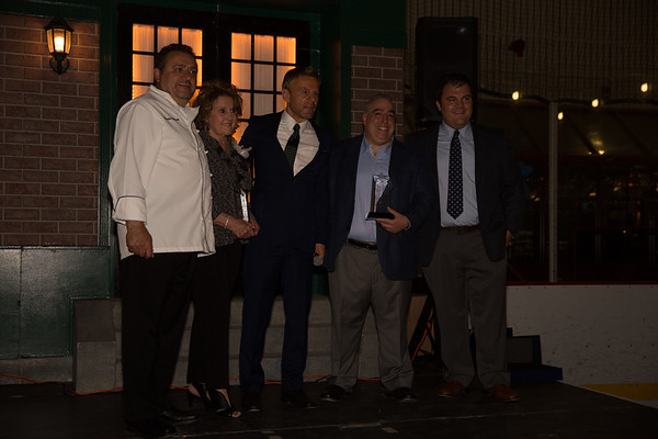 From the left, Donato Frattaroli, Barabara Summa, Jim Luisi, Matt Conti, Philip Frattaroli