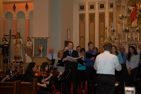 Dan Drzymalski singing with St. Leonard Choral Society at Ave Maria Concert
