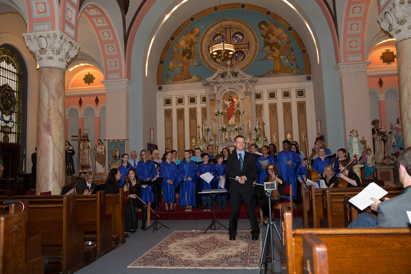 Saint John School Children's Choir Performs with Dan Drzymalski and St. Leonard Choral Society and North End Chamber Orchestra