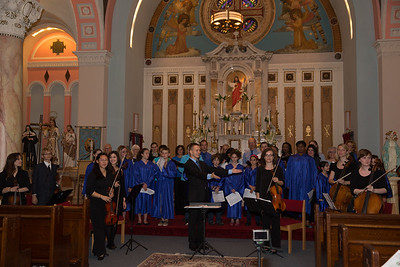 Taking a bow at the Ave Maria Concert at Sacred Heart Church