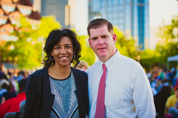 Boston Mayoral Candidates Charlotte Golar Richie and Marty Walsh at the Memorial Day Remembrance Concert - 2013-05-27 at 19-03-28