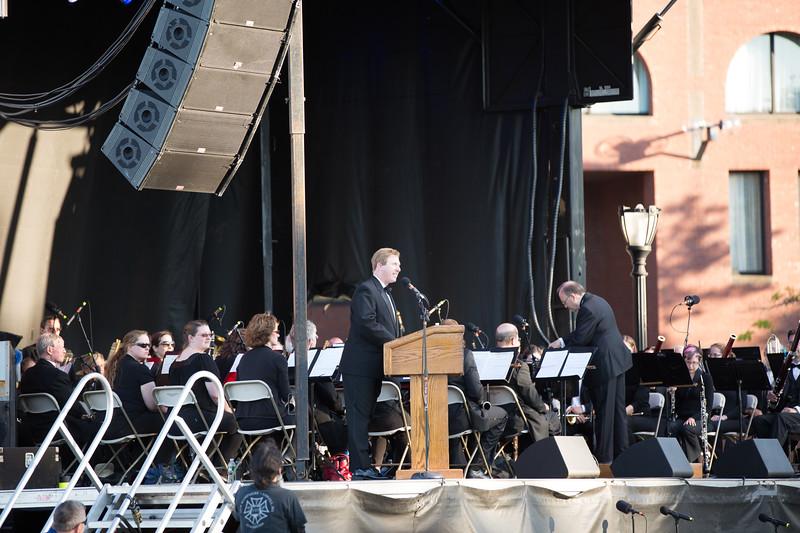 At the podium, Brian Cushing, Asst - 2013-05-27 at 18-50-58