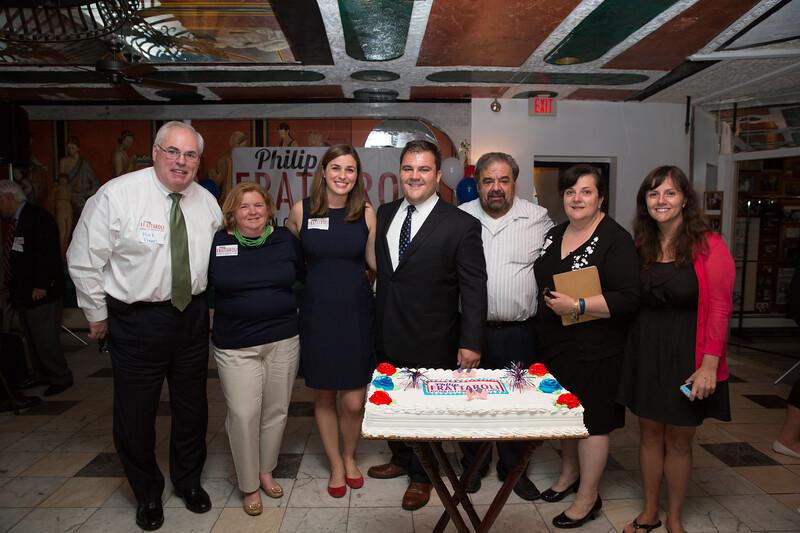 From the left, Mark Fagan, Elaine Fagan, Kelly Frattaroli, Philip Frattaroli, Filippo Frattaroli, Anna Frattaroli and Daniella Frattaroli