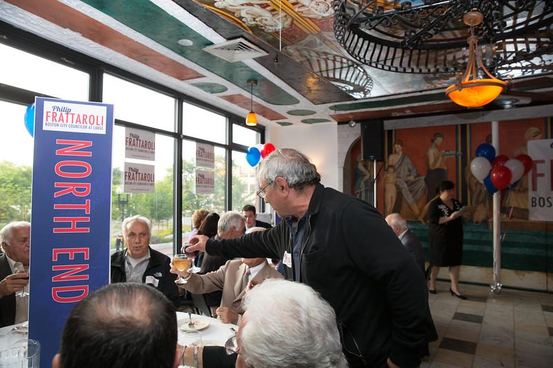 Supporters toast to a successful campaign for Philip Frattaroli
