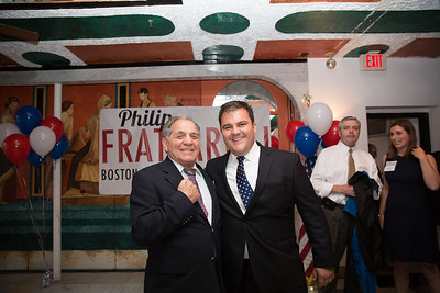 Boxing Champion Tony DeMarco (left) with City Councilor At Large Candidate Philip Frattaroli