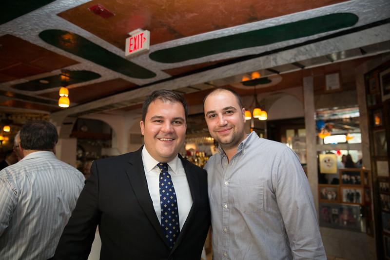 Philip Frattaroli (left) and Nicholas Frattaroli (soon to open Ward 8 Restaurant)