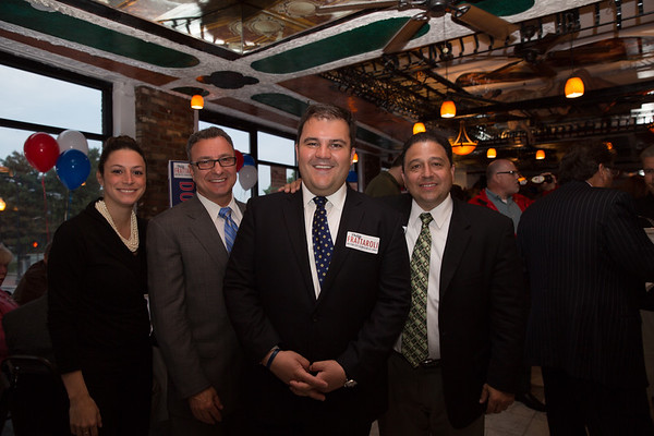 (L-R) Maria Puopolo, aide to State Rep. Aaron Michlewitz, City Councilor Sal LaMattina, Councilor At-Large Candidate Philip Frattaroli and Mayoral Candidate Rob Consalvo