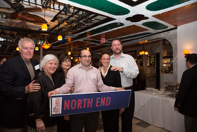 From the left, Jim and Francine Gannon, Kathy Carangelo, Matt Bamonte, Maria Puopolo and Jason Aluia