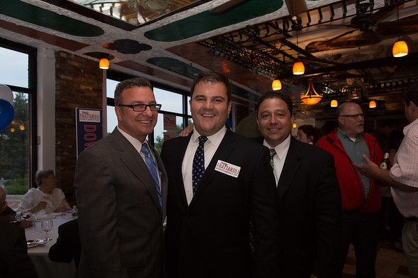 (L-R) District 1 City Councilor Sal LaMattina, Candidate for Councilor At-Large Philip Frattaroli and Mayoral Candidate Rob Consalvo