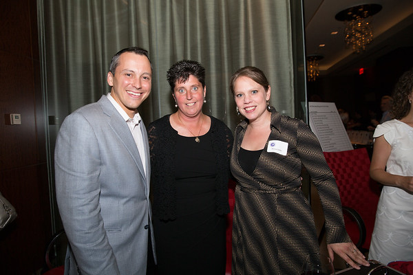 (L-R) State Rep. Aaron Michlewitz, Eliot School Principal Traci Walker Griffith and Rebecca Griffin