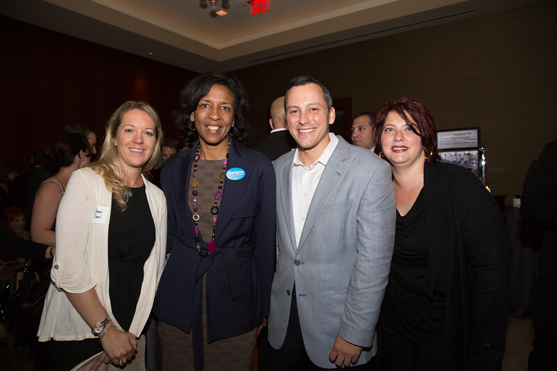 (L-R) Sherri Snow, Mayoral Candidate Charlotte Golar Richie, State Rep. Aaron Michlewitz and Lori Toscano