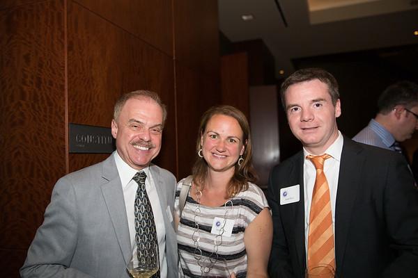 NEWRA President Jim Salini (left), FONEBL Treasurer Donna Wells and Co-Chair Eliot Family Council Israel Ruiz