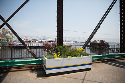 The bridge is a popular walkway overlooking Boston Harbor - 2013-06-25 at 11-24-54