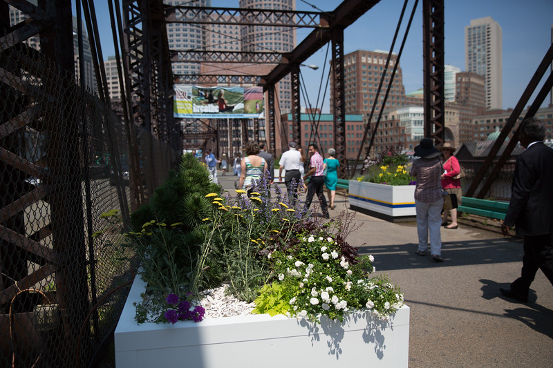 Public Works, Parks Department and The Boston Harbor Association will maintain the planters