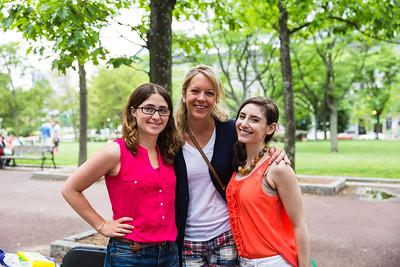 NEMPAC's Sherri Snow, Rebecca and friend