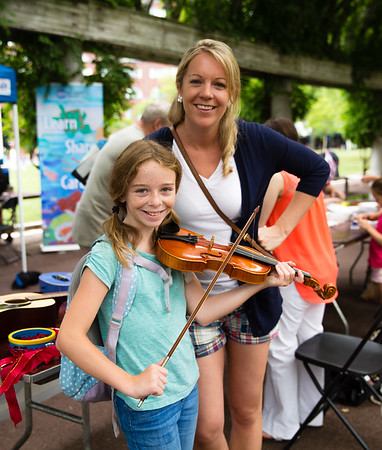 NEMPAC's Sherri Snow with Sophia on the violin