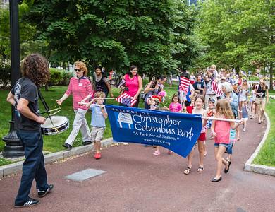 Familes Parade at Christopher Columbus Park
