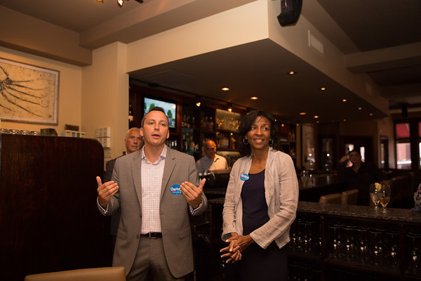 2013-06   Aaron Michlewitz Event with Mayoral Candidate Charlotte Gomar Richie at Prezza 45 - 2013-06-09 at 13-37-53