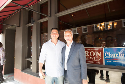2013-06   Aaron Michlewitz Event with Mayoral Candidate Charlotte Gomar Richie at Prezza 66 - 2013-06-09 at 13-51-38
