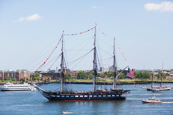 2013-07   USS Constitution Turnaround in Boston Harbor