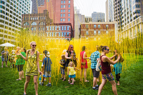 Yellow string maze at Figment