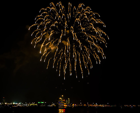 End of Summer fireworks fly over Boston Harbor in 2013