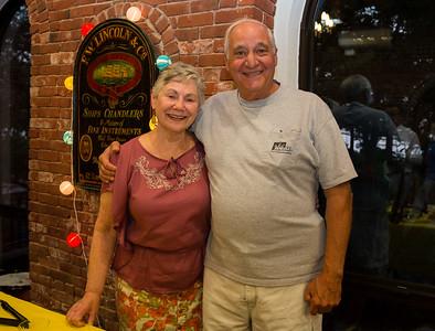 Phyllis Vitti and Bob Venuti working at NEWRA summer party