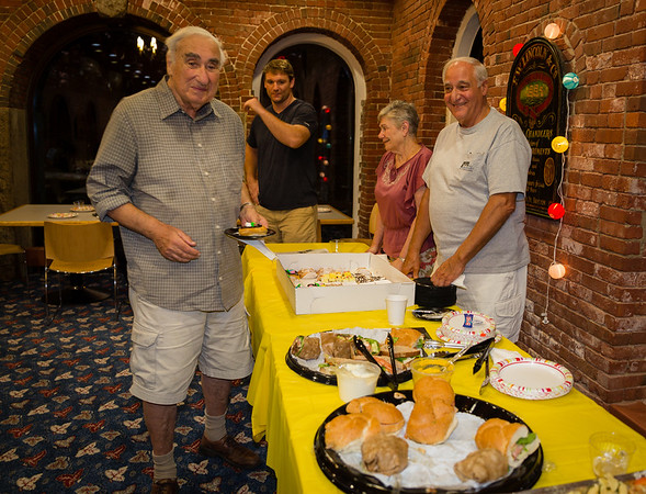 Ives enjoy the food at NEWRA's summer party