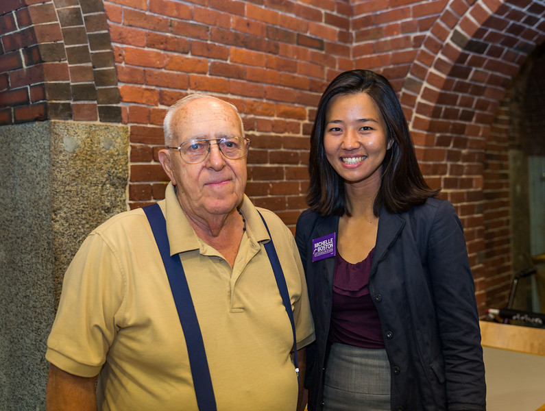 Frank and City Council at Large candidate, Michelle Wu