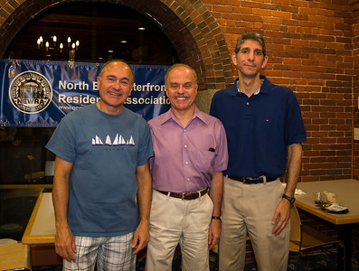 NEWRA officers, (L-R) Secretary David Kubiak, President Jim Salini, Treasurer Michael Giardiello (missing from photo VP Victor Brogna and Sargeant at Arms Marie Simboli)