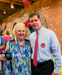 Michele Morgan and Mayoral candidate, Marty Walsh