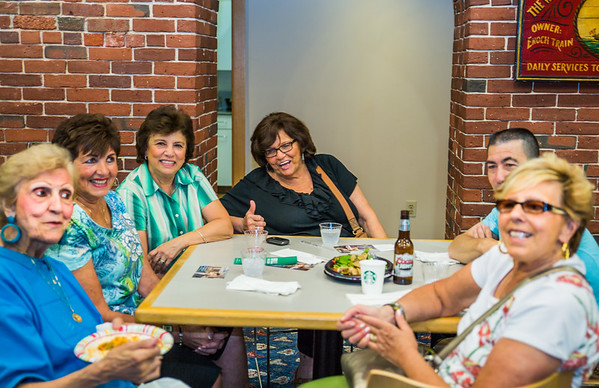The ladies share a laugh at NEWRA's summer party
