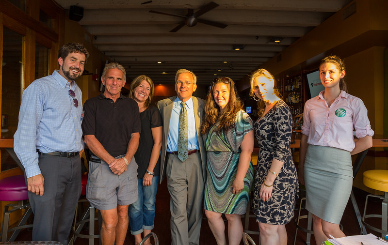 Mayoral candidate, Bill Walczak at Wednesday night meet and greet before NEWRA party