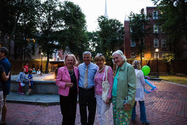 Mayoral Candidate Dan Conley with Michelle, Anne and Rosemary