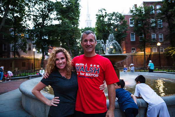 Renee and Stephen on the Prado for National Night Out